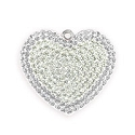 Swarovski Crystal Pave Heart Pendant 67412 20mm Crystal Moonlight/White Opal (1-Pc)