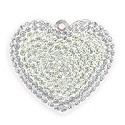 Swarovski Crystal Pave Heart Pendant 67412 26mm Crystal Moonlight/White Opal (1-Pc)