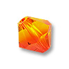 Swarovski Crystal Bicone Beads 5328 4mm Fire Opal (10-Pcs)