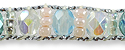Mini Crystals Ankle Bracelet Aqua