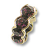 Swarovski Rondelle Square Bead 8mm Amethyst Gold Plated (1-Pc)