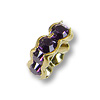 Swarovski Rondelle Square Bead 4.5mm Purple Velvet Gold Plated (1-Pc)