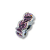 Swarovski Rondelle Square Bead 4.5mm Light Amethyst Rhodium Plated (1-Pc)
