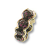Swarovski Rondelle Square Bead 6mm Amethyst Gold Plated (1-Pc)
