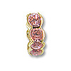 Swarovski Rondelle Square Bead 6mm Light Rose Gold Plated (1-Pc)