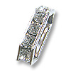 Swarovski Spacer Bar Bead 10x4mm Crystal Rhodium Plated (1-Pc)