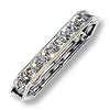 Swarovski Spacer Bar Bead 17x5mm Crystal Sterling Plated (1-Pc)