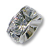 Swarovski Rondelle Bead 6mm Crystal Rhodium Plated (1-Pc)
