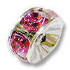 Swarovski Rondelle Bead 6mm Rose Rhodium Plated (1-Pc)