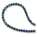 Azurite Malachite Round Beads 4mm (15
