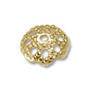 6mm Gold Color Bead Cap (10-Pcs)
