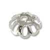 7mm Silver Color Bead Cap (10-Pcs)