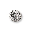 Bead Cap - Swirled Leaves 8mm Pewter Antique Silver Plated (1-Pc)