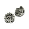 6mm Pewter Antique Silver Plated Radial Swirl Bead Cap (1-Pc)