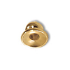 3.5x4mm Gold Plated Bead Cap (2-Pcs)
