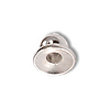 3.5x4mm Silver Plated Bead Cap (2-Pcs)