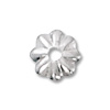 Bead Cap 4.5mm Sterling Silver (4-Pcs)