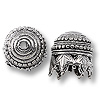Bead Cap - Maharajah 14x13mm Pewter Antique Silver Plated (1-Pc)
