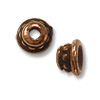 Bead Cap - Beaded 4mm Pewter Antique Copper Plated (2-Pcs)