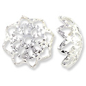 10mm Silver Plated Filigree Bead Cap (2-Pcs)