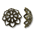 Bead Cap - Filigree 10mm Base Metal Antique Brass Plated (2-Pcs)