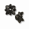 TierraCast Bead Cap - Leaf 5mm Pewter Gunmetal Plated (1-Pc)