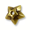 Star Bead Cap Pewter Antique Brass Plated (1-Pc)