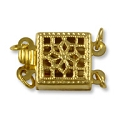 Filigree Clasp 2 Strand 8.5mm Gold Filled (1-Pc)