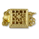 Filigree Clasp 3 Strand 8.5mm Gold Filled (1-Pc)
