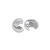 2.4mm Sterling Silver Crimp Bead Cover  (4-Pcs)