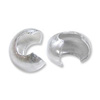 4mm Sterling Silver Crimp Bead Cover (2-Pcs)