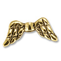 Bead Angel Wing 20x9mm Pewter Antique Gold Plated (1-Pc)