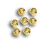 Corrugated Beads 2.5mm Round Gold Plated (10-Pcs)