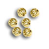 Corrugated Bead 3mm Round Gold Plated (10-Pcs)
