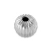 Round Bead Corrugated 3mm Sterling Silver (2-Pcs)