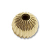 Corrugated Round Bead 4mm 14k Yellow Gold (1-Pc)