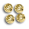 Corrugated Bead 4.5mm Round Gold Plated (10-Pcs)