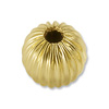 Gold Filled Round Bead Corrugated 5mm (1-Pc)