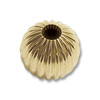Corrugated Bead Round 5mm 14k Yellow Gold (1-Pc)