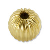 Gold Filled Round Bead Corrugated 6mm (1-Pc)