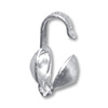 Clam Shell Bead Tip 3.5mm Cup Sterling Silver (2-Pcs)