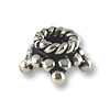 Bead Cap Bali Style Star 6.5x3.7mm Sterling Silver (1-Pc)