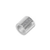2x2mm Sterling Silver Seamless Crimp Tube Beads (10-Pcs)