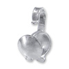 Clam Shell Bead Tip 3.5mm Cup 14k White Gold (1-Pc)