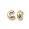 3mm Gold Filled Crimp Bead Cover (4-Pcs)