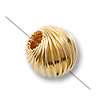 Gold Filled Round Twisted Beads - Corrugated 6mm (1-Pc)
