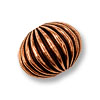 10x13mm Corrugated Copper Bead (1-Pc)