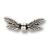 TierraCast Bead Dragonfly Wings 20x6mm Pewter Silver Plated (1-Pc)