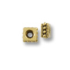 TierraCast Bead Rococo Square Heishi 4mm Pewter Gold Plated (2-Pcs)
