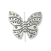 Designer Bead/Pendant Butterfly 32x27mm Sterling Silver (1-Pc)